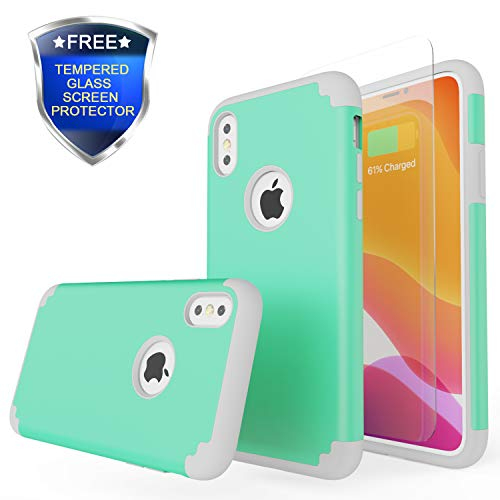 Rhidon for iPhone Xs Max Case,Non-Slip Slim Dual Layer Anti-Scratch Protective Case with Soft Silicone Cover&Hard Back Bumper foriPhone Xs Max 6.5