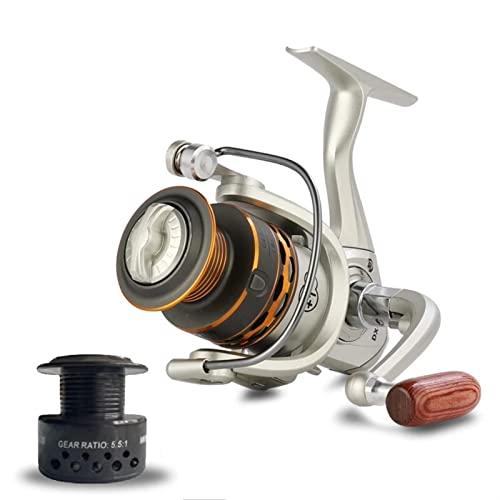 Carretes de Pesca,carrete spinning Pesca doble bobina de pesca Handshake de madera 12+ 1BB Rolla de pesca de hilado Metal profesional izquierdo/ derecha ruedas de carrete de pesca carrete de caña de