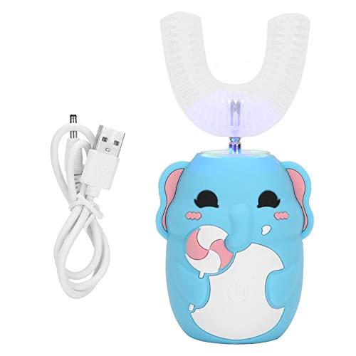 Cepillo de dientes eléctrico para niños en forma de U, cepillo de...