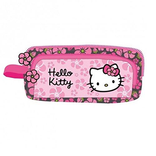 Hello Kitty Estuche 2 Compartimentos Negra Rosa (HK38): Amazon.es: Juguetes y juegos