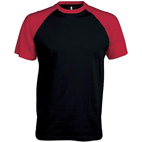 Kariban Base Ball > T-Shirt Bicolore Manches Courtes - Slate Grey/Black, L, Unisexe