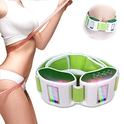 POEO Cinturón Masaje Adelgazante Sauna de Vibración Eléctrica, Quemador de Grasa Abdominal, Cinturón Tonificador, con Sistema de Calor, Mejorar La Circulación Sanguínea para Mujeres y Hombres