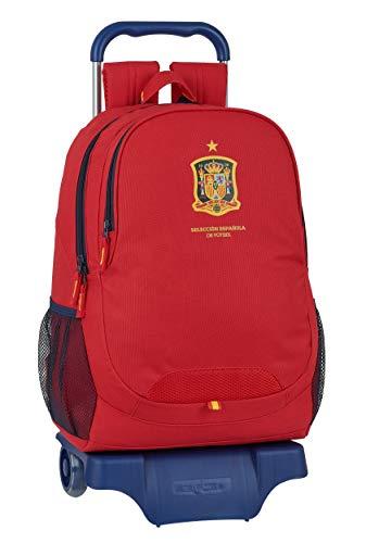 Mochila Safta Escolar con Carro de Selección Española de Fútbol, 330x150x430mm