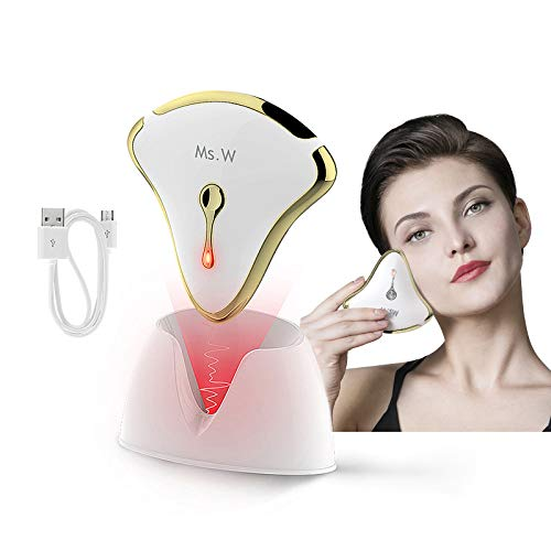 Ms.W - Raschietto elettrico Gua Sha per massaggiare il viso, anti-invecchiamento, per stringere la pelle, con ricarica wireless, dispositivo di sollevamento facciale