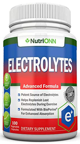 electrolyte replacements Electrolytes - 100 Natural Electrolyte Replacement Capsules - Premium Keto Friendly Pills - No Sugar - Great for Hydration, Recovery and Hangovers - Trace Minerals Potassium, Magnesium, Sodium Salts