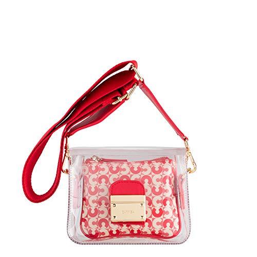 CARPISA® Mini borsa trasparente da donna con tracolla e chiusura metallica - Quieta