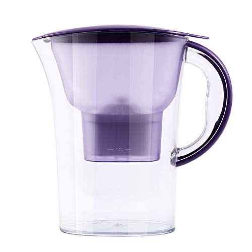 RETYLY Wasser Filter Haushalt Aktiv Kohle Filter Kalt Wasser Flasche Netto Wasser Kocher KüChe Wasser Tasse Gesundes Getr?Nk Maschine Lila
