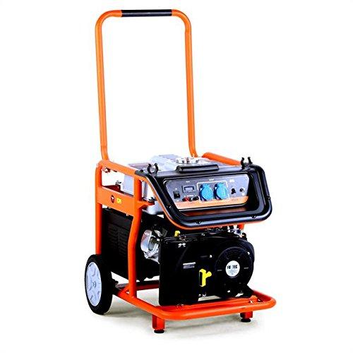 Fuxtec Benzin Stromerzeuger FX-SG7500, 6500 Watt Leistung, 16 PS 4-Takt Motor mit 420cc Hubraum - 2X 230V Anschluss -getestet als Best of in der Oberklasse mit Note 1,5