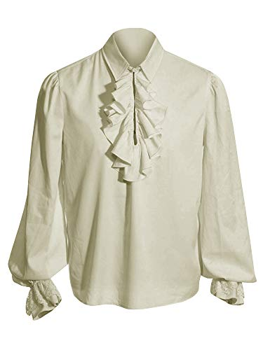 Material: nice fabric, soft & comfortable & breathable & lightweight Features: long sleeve & double ruffle in front and on sleeves & wide cuff & loose fit & plus size, make you eye-catching. Occasions: great idea for Casual Wear, Going Out, Masquerad...