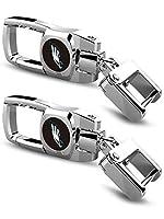 2 PCS NFL Car Key Chain for Philadelphia Eagles, Heavy Duty Keychain with NFL Emblem Logo on Both Side