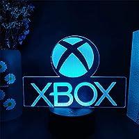 XKUN 3Dイリュージョンテーブルランプ、リモコン付きで常夜灯を変える16色、男の子歌手への誕生日プレゼント,Xbox