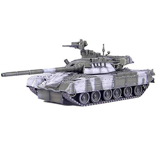 1/72 Scale Diecast Tank Modelo de plástico, T-80um1 Tanque de Batalla Principal 2000 Camo de Nieve Rusia Modelo, Juguetes Militares y Regalos, 5.4 Pulgadas x 1.9 Pulgadas