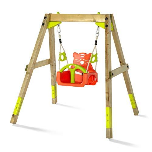 Plum® 27512 Wooden Swing Set, Natural, 142 x 190 x 162
