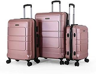 Giordano luggage - 203 hard case trolley 3 pcs set with 4 wheel