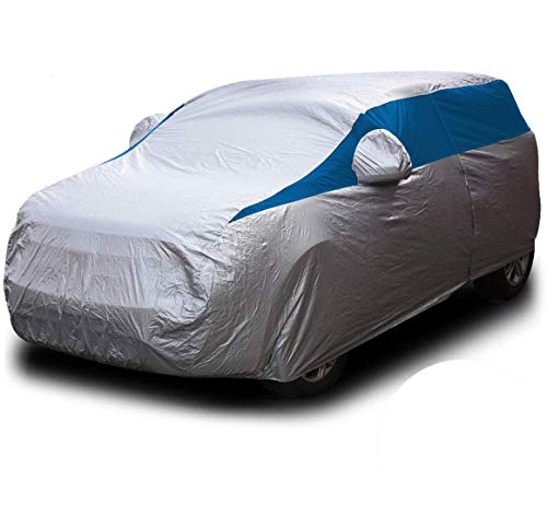 Titan Lightweight Car Cover (Bondi Blue). Compact SUV Compatible with Toyota RAV4, Honda CR-V, Rogue, and More. Waterproof Cover Measures 187 Inches, Includes Driver-Side Door Zipper.