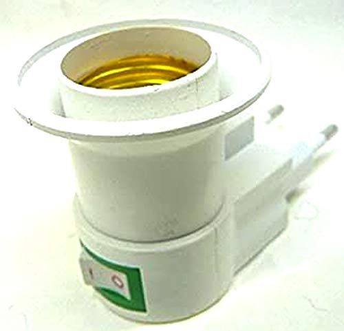 Prodigital - Adaptador porta bombillas E27 con enchufe e interruptor
