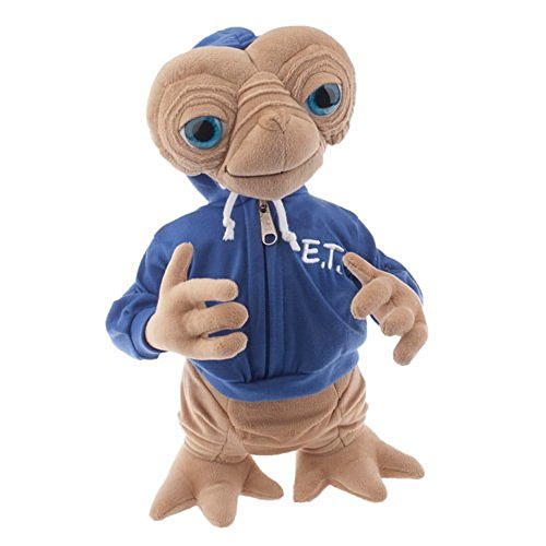 Universal E.T. Extra Terrestrial with Blue Embossed Hoodie Sweatshirt 15' Plush Doll
