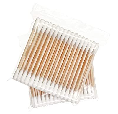 Organic Cotton Swabs with Wooden Sticks/Biodegradable Cotton Buds/Eco Friendly Cotton Swabs