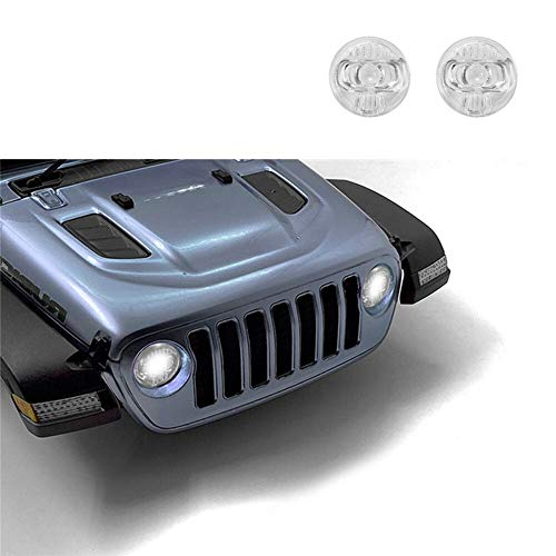Scheinwerfer Glasabdeckung Auto Klar Scheinwerfer Objektivabdeckung Transparent Scheinwerfer-Abdeckung Fit For AXIAL SCX10 III Jeep Wrangler RC Car Shell Upgrade Kit Hohe Simulation Scheinwerfer Lamps