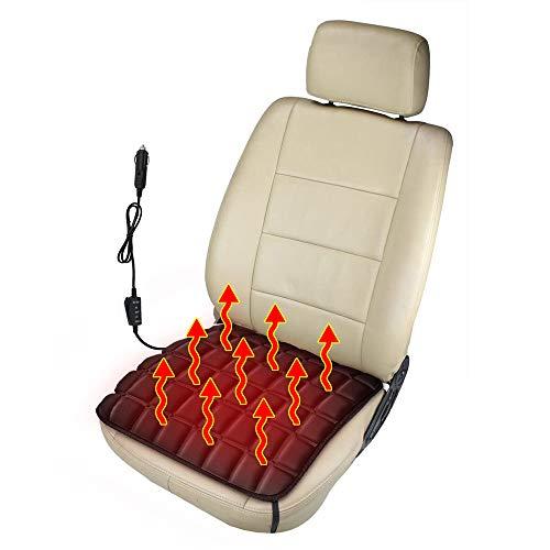 Heizung Auto Sitzkissen, Beheizbare Kissen, Sitzheizung Auto aus Memory Schaum,USB/Zigarettenanzünder Komfort Sitzkissenheizung Perfekt für Kaltes Wetter und Winterfahrten (Zigarettenanzünder)