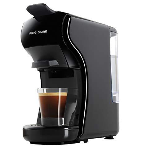 FRIGIDAIRE ECMN103-BLACK - Cafetera compatible con varias cápsulas, Nespresso Dolce Gusto and Grounds, color negro