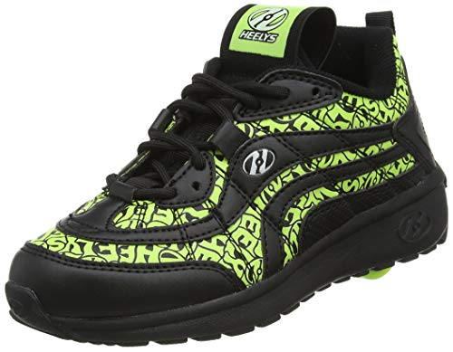 Heelys Nitro, Zapatos con Ruedas Niños, Black/Neon Yellow...