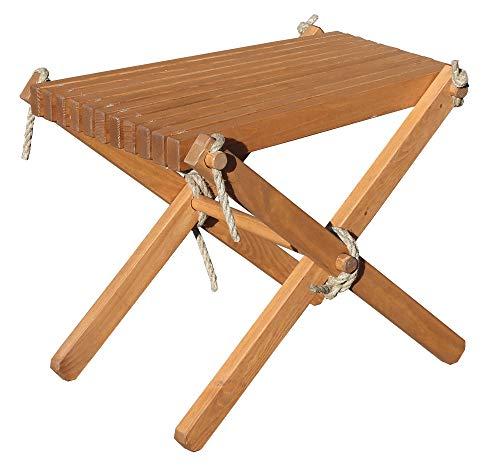 Beistelltisch/Hocker FALUN Braun Holz Gartentisch Outdoor Esstisch Tisch Möbel