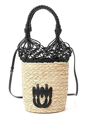 Miu Miu Luxury Fashion Damen 5BE0612C90F0I55 Beige Grobes Leinen Handtaschen | Frühling Sommer 20