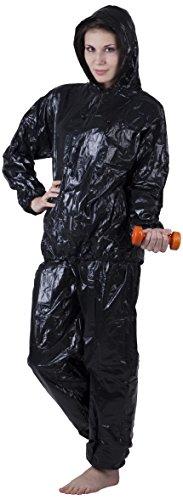 ScSPORTS® Schwitzanzug 2teilig mit Kapuze, der Sauna-Anzug zur Intensivierung des Schwitzeffekts, Größe M, schwarz