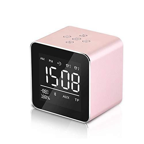 ZLSP Altavoz Bluetooth, Altavoz Bluetooth Reloj Despertador, multifunción Pequeño Audio subwoofer, Reproductor de música Externa, la Pantalla LCD Reloj Despertador, Soporte de Tarjeta TF