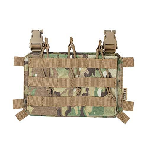 OneTigris Magazinetaschen DREI-Fach Taktisches Plakat 03 für M4 Gewehrmagazine komptibel mit Chest Rig Plattenträger mag Pouch |MEHRWEG Verpackung (Multicam)
