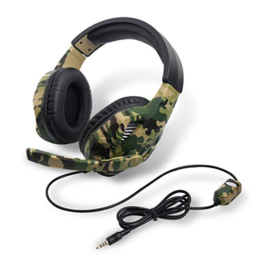 HHoo88 Gaming Headset Camouflage for PS4 PC Gaming Headset with Microphone Laptop Phone Accessory Gift for Kids Boys Men