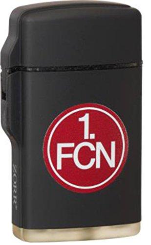 Feuerzeug Rubber Laser schwarz 1. FC NÜRNBERG FCN