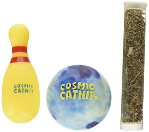 OurPets Catnip Vinyl Refillable Bowling Ball Cat Toy One to Spare