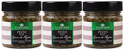 Pesto alle Cime di Rapa -Pesto mit Stängelkohl- Congedi 3x220 Gramm