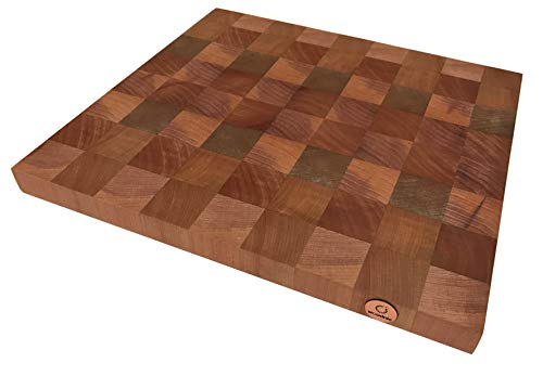Woodnic – End Grain Cutting Board – Natural Wood Chopping Block – Chile Southern Beech Kitchen Cutting Board – 12 x 13 x 1.5-inch – Chef Chopping Board – Butcherblock from Patagonia