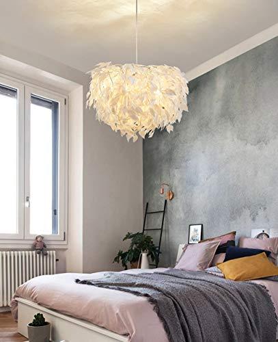 ZA Pendelleuchten Moderne kreative LED-Hängelampen Stoff + Eisen Kunst Kronleuchter Höhe Verstellbares Schlafzimmer Esszimmer Wohnzimmer Hängelampe E27 Deckenleuchte Deckenleuchte (weiß, 50 cm)