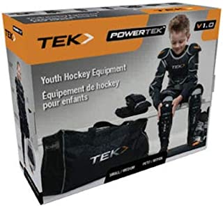PowerTek V3.0 6-Piece Youth Ice Hockey Equipment Pads, Starter Set Kit