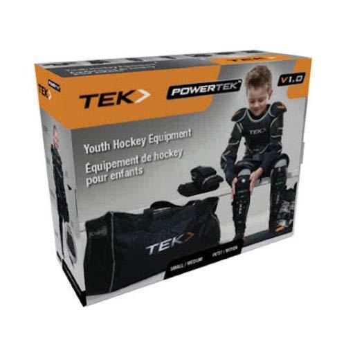 PowerTek V3.0 6-Piece Youth Ice Hockey Equipment Pads, Starter Set Kit (Large)