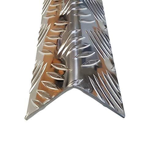 1x Winkel Riffelblech 50x50x2500mm 2,5/4mm stark QUINTETT Tränenblech Alu Aluminium