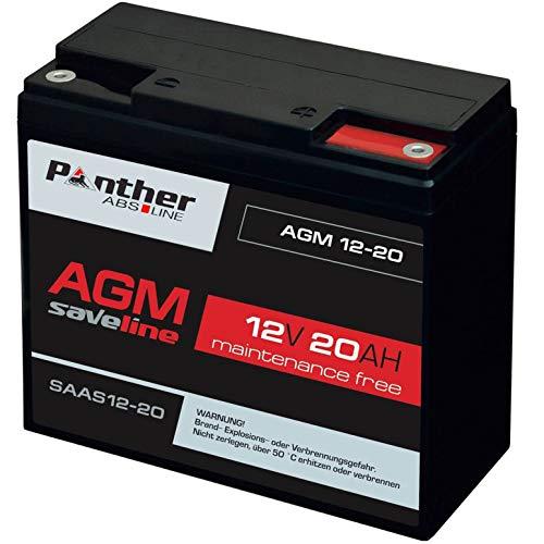 Panther Akku AGM 20Ah 12V Bleiakku USV Batterie ersetzt 17Ah 18Ah LC-RD1217P