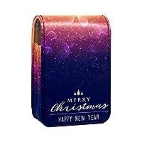 ミニレザー リップスティックオーガナイザーバッグ,クリスマスの輝きと光