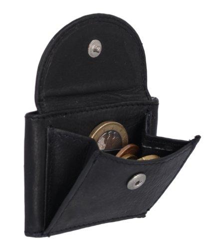 LEAS LEAS Extra kleine Minibörse Echt-Leder, schwarz Mini-Edition