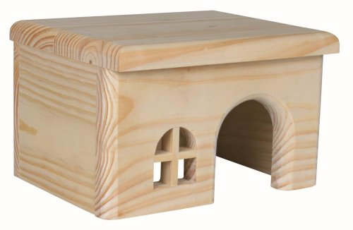 TRIXIE Wooden House for Hamsters, 15 x 12 x 15 cm