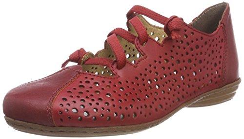 Rieker Damen 53975 Ballerinas, Rot (Rosso), 38 EU