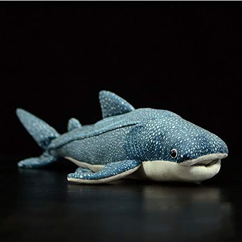 GE&YOBBY Blue Shark Peluche Big Fish Bambola di Stoffa Balena Ripieno Peluche Animali Marini Bambini Compleanno Regalo-Un 54 cm