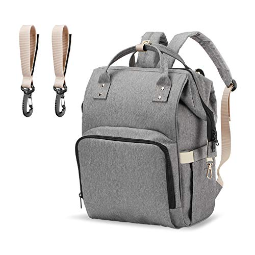 PPW Upgraded Mommy Diaper Bag Backpack,Tote Shoulder Backpack, Multifunction Organizer Insulated Waterproof,Maternity Baby Changing Bags,Large Capacity,Durable and Stylish (Upgraded Gray)