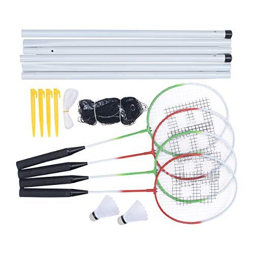 Baseline BG955 4 Spieler Badminton-Set für Anfänger mit Netz, Schlägern und Federbällen