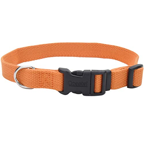 Coastal Pet Products New Earth, Soy Adjustable Dog Collar, S/M, Pumpkin, 12