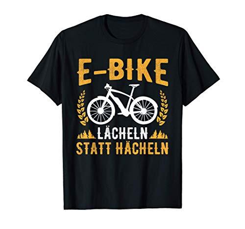 E-Bike Spruch Elektro Fahrrad Lächeln Statt Hecheln T-Shirt